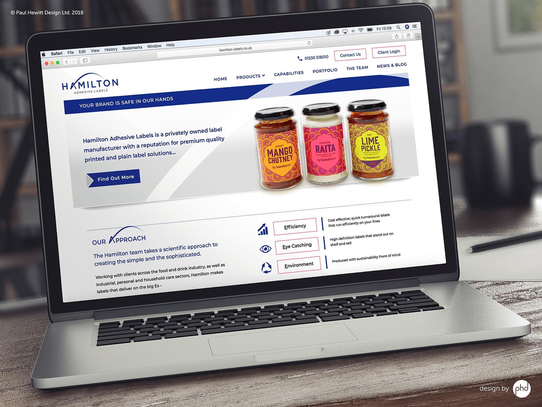 Hamilton Labels New Website